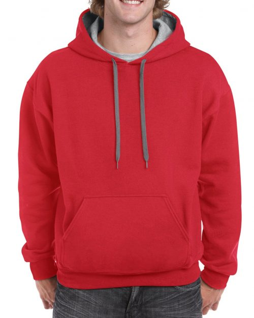GILDAN® HEAVY BLEND™ ADULT CONTRAST HOODED SWEATSHIRT