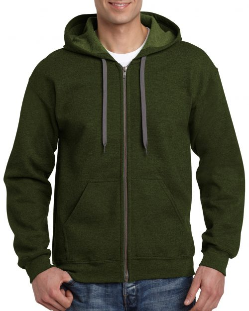 GILDAN® HEAVY BLEND™ ADULT VINTAGE FULL ZIP HOODED SWEATSHIRT