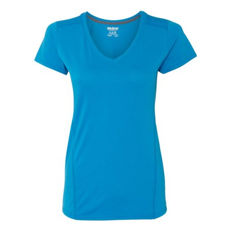 GILDAN PERFORMANCE® LADIES' V-NECK TECH T-SHIRT