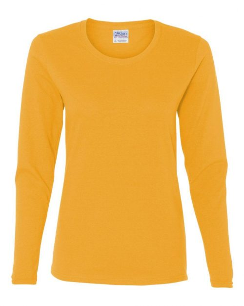 HEAVY COTTON SEMI-FITTED LADIES L/S T-SHIRT