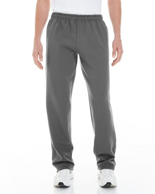 GILDAN ADULT HEAVY BLEND OPEN-BOTTOM SWEATPANTS WITH POCKETS