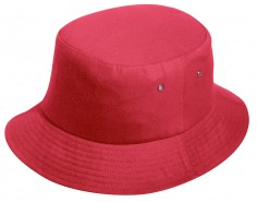 BRUSHED COTTON TWILL BUCKET HAT/MESH LINING